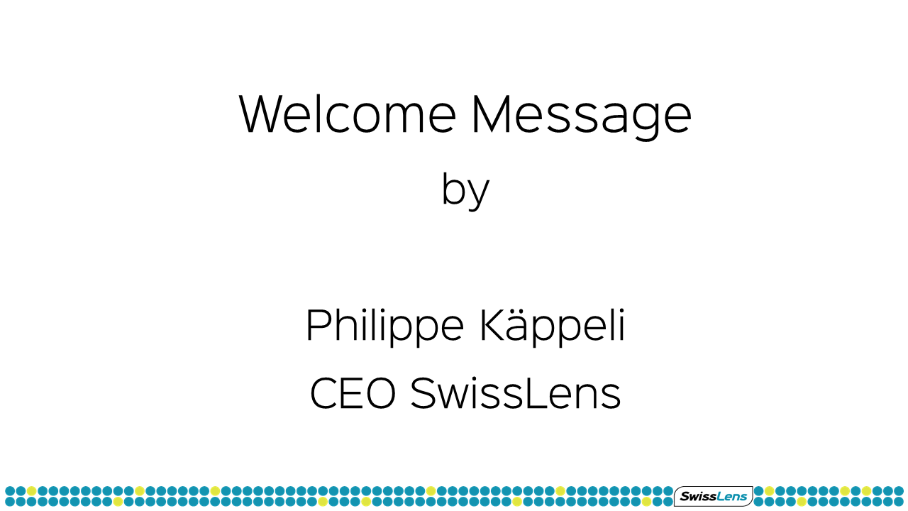Welcome Message Philippe Käppeli