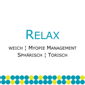 Relax Myopie weiche Myopie-Managment Kontaktlinse