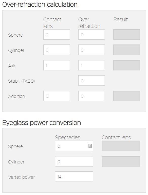 Caja de herramientas de lentes de contacto